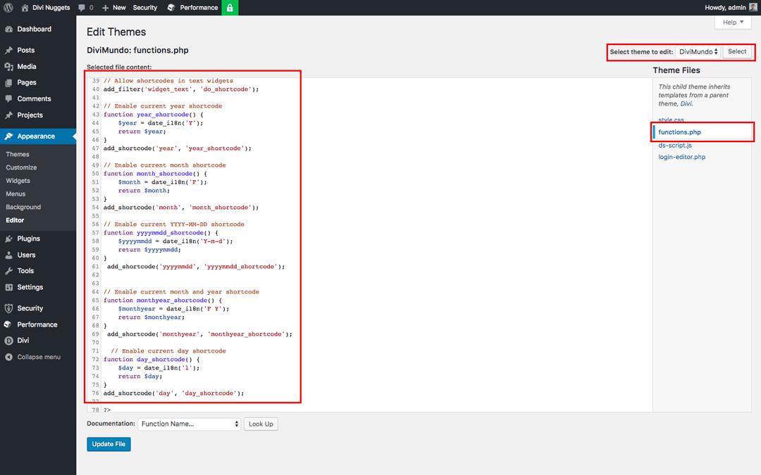 Date d'aujourd'hui dans functions.php