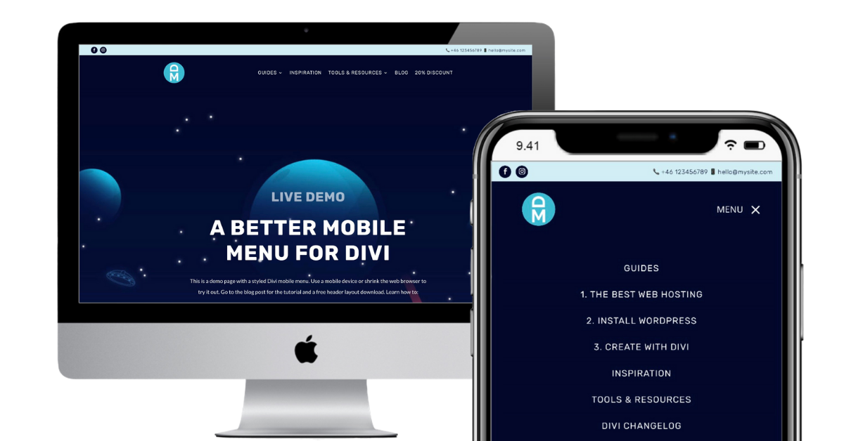 A better mobile menu for Divi and WordPress
