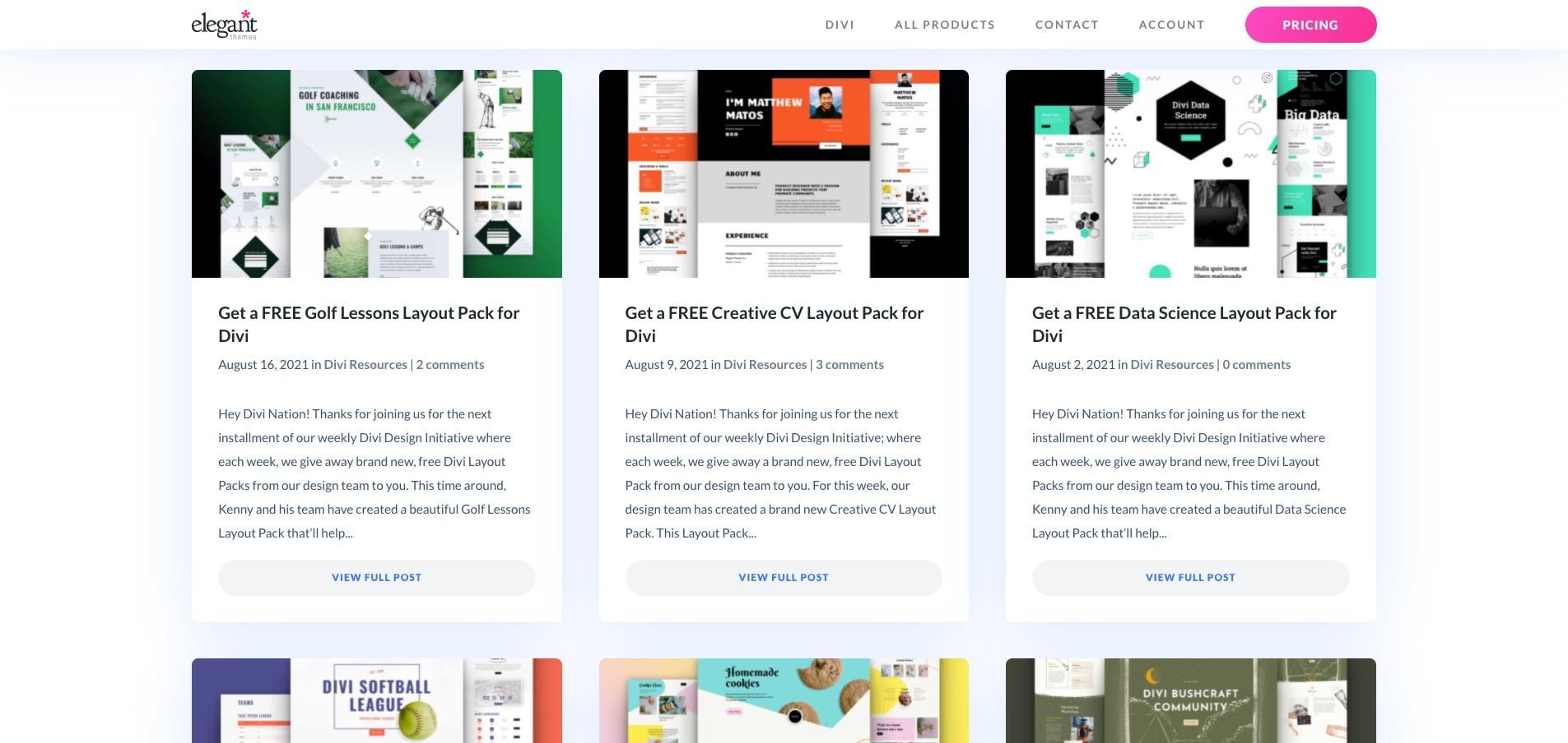 Elegant Themes Website Photos