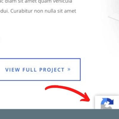 reCAPTCHA badge hidden behind content