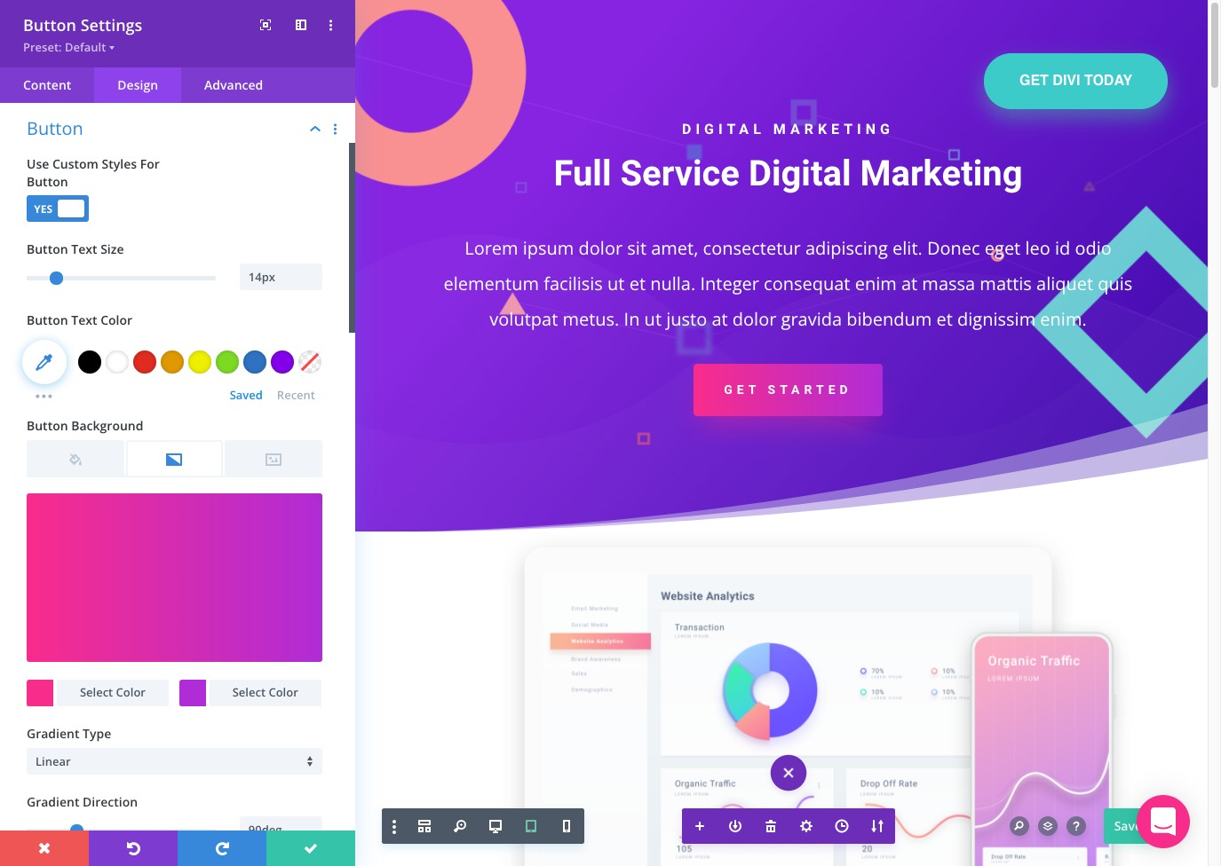Try Divi for free online